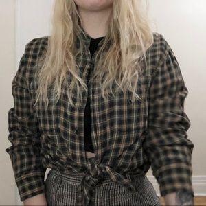 Vintage Plaid Flannel Shirt